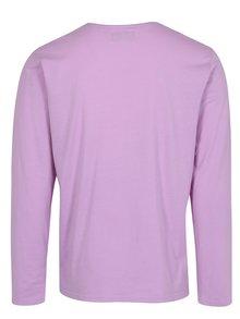 Ružové tričko s dlhým rukávom a náprsným vreckom Shine Original