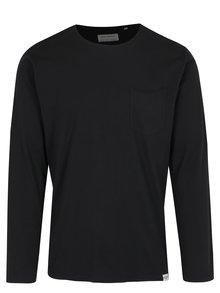 Černé tričko s dlouhým rukávem a náprsní kapsou Shine Original