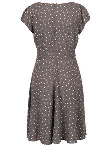 Sivé šaty s motívom srdiečok Billie & Blossom