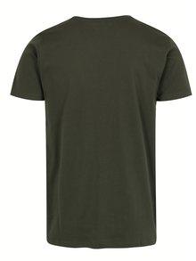 Oranžovo-zelené tričko s potlačou Shine Original