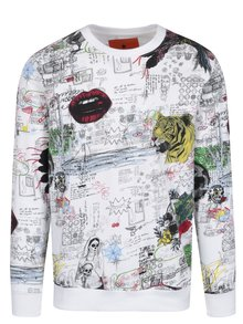 Bluza gri deschis cu print - Shine Original