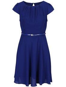 Modré šaty s opaskom Billie & Blossom Petite