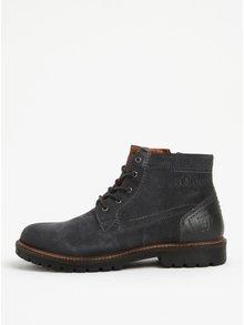 Tmavě šedé pánské semišové kotníkové boty s.Oliver