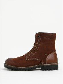 Tmavě hnědé pánské semišové kotníkové boty s.Oliver