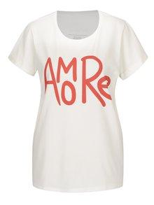 Krémové dámske tričko s potlačou Aer Wear Amore
