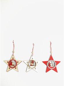 Sada tří vánočních ozdob ve tvaru hvězdy CGB