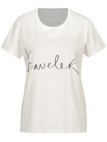 Tricou crem&negru cu print text  pentru femei Aer Wear Traveler