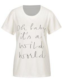 Krémové dámské tričko s potiskem Aer Wear Oh Baby