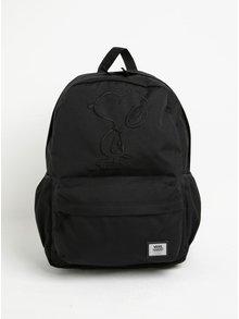Černý batoh s výšivkou Vans Peanuts