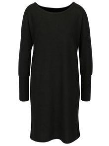 Černé svetrové šaty s průstřihem na zádech Noisy May City