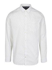 Krémová vzorovaná košeľa Jack & Jones Originals Simon