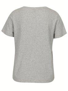 Svetlosivé tričko s motívom zatvorených očí VERO MODA Eye