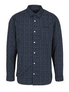 Tmavomodrá vzorovaná košeľa Jack & Jones Originals Simon