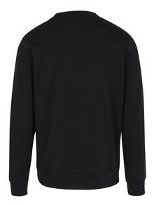 Bluza negru&alb cu print text Jack & Jones Originals Softneo