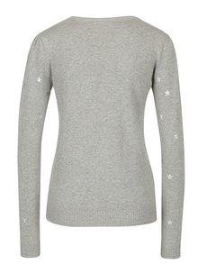Sivý melírovaný vzorovaný sveter VERO MODA Snowflake