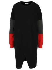 Černé mikinové šaty s překládanou přední částí Noisy May Winner