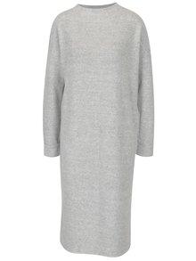 Svetlosivé melírované šaty s dlhým rukávom VERO MODA Chula