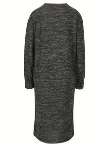 Tmavosivé melírované šaty s dlhým rukávom VERO MODA Chula