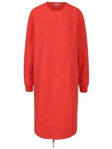 Červené mikinové šaty se stahováním v přední části Noisy May Liam