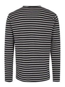 Bluza negru & alb cu print in dungi - SUIT Beagle