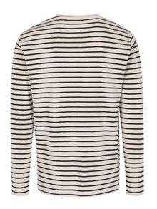 Bluza bleumarin & alb cu print in dungi - SUIT Beagle