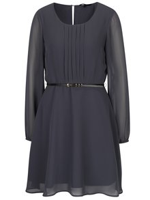 Tmavosivé šaty s opaskom VERO MODA Adele