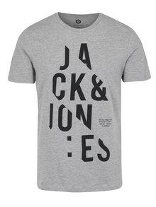 Svetlosivé tričko s krátkym rukávom Jack & Jones Core Cutter Tee