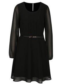 Čierne šaty s opaskom VERO MODA Adele