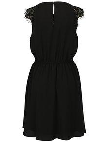 Čierne šaty s čipkou v dekolte VERO MODA Lila