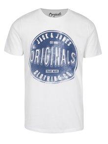 Krémové tričko s krátkým rukávem Jack & Jones Originals Stood Tee