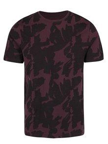 Vínové vzorované tričko ONLY & SONS Manfred