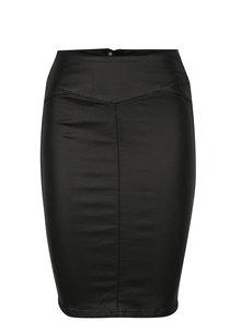 Čierna koženková puzdrová sukňa VERO MODA Supreme
