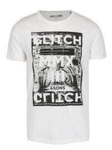 Krémové tričko s potiskem ONLY & SONS Maceo