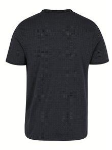 Čierna polokošeľa s jemným vzorom Selected Homme Delan