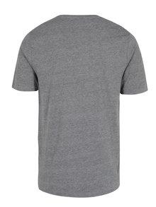 Tricou din bumbac gri melanj cu print - ONLY & SONS Maceo