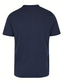 Tricou polo bleumarin cu print - Selected Homme Delan