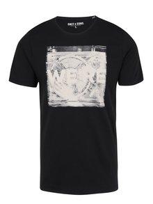 Černé tričko s potiskem ONLY & SONS Maceo