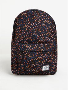 Černý květovaný batoh Herschel Classic 18 l