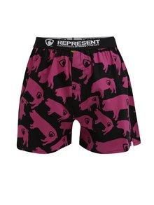 Ružovo-čierne trenírky s potlačou Represent Exclusive Mike Pig Farm