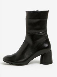Cizme negre scurte din piele naturala pentru femei - Högl