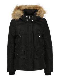 Čierna zimná prešívaná bunda s kapucňou VERO MODA Fea