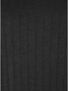 Pulover scurt gri inchis cu maneci 3/4 - ONLY Ida