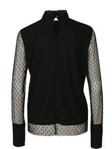 Bluza negra din plasa cu buline  VERO MODA Almond