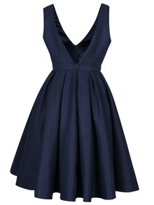 Tmavě modré šaty s výstřihem na zádech Chi Chi London Zara