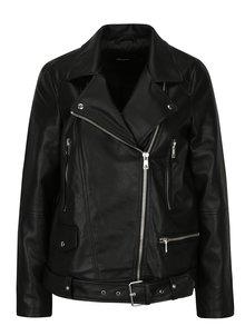 Čierna koženková bunda VERO MODA Juhuu