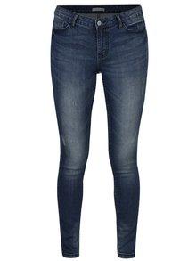 Modré skinny džíny s vyšisovaným efektem Jacqueline de Yong Skinny