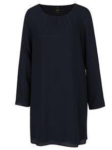 Tmavě modré šaty s volány na rukávech ONLY Diana