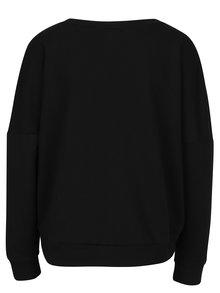 Bluza asimetrica neagra cu aplicatie text din paiete ONLY Napoli