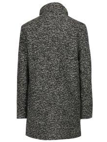 Tmavosivý melírovaný kabát s prímesou vlny ONLY New Sophia