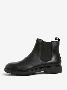 Černé pánské kožené chelsea boty Vagabond Edward